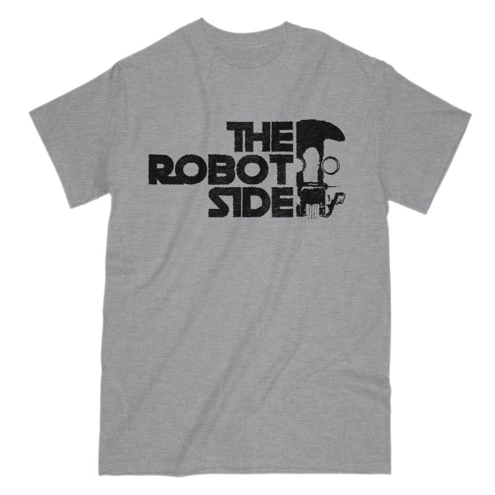 The Robot Side Space Wars Star Parody Graphic T-Shirt
