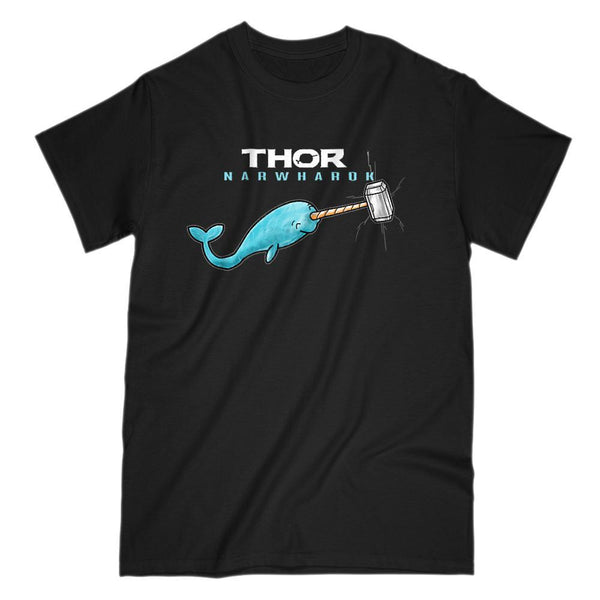 Thor Narwharok Narwhal Funny Movie Parody Graphic Tee Graphic T-Shirt Tee BOXELS