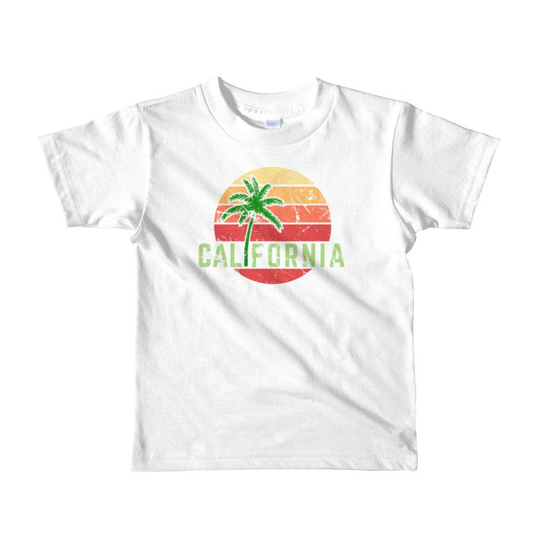 (Toddler American Apparel 2105) California Palm Sunset Graphic T-Shirt Tee BOXELS