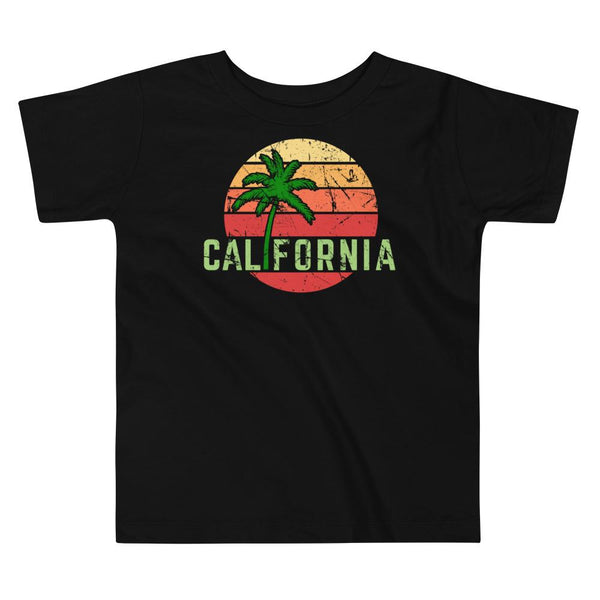 (Toddler BC 3001T) California Palm Sunset Graphic T-Shirt Tee BOXELS