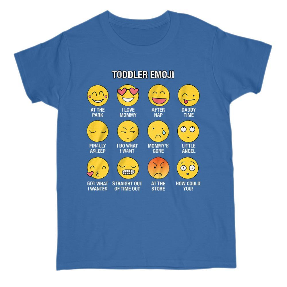Toddler Emoji (Emoticon) Social Funny True Sayings Graphic T-Shirt Tee BOXELS