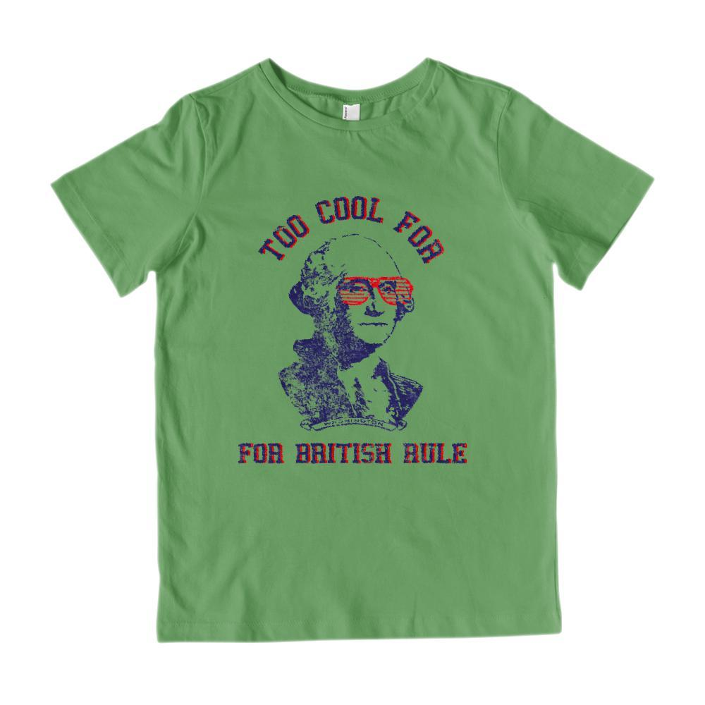 Too Cool For British Rule Kids Patriotic Graphic T-Shirt Graphic T-Shirt Tee BOXELS