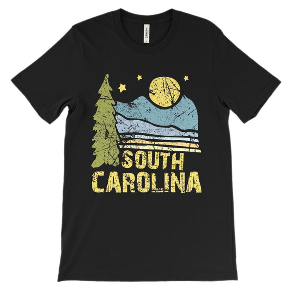 (Unisex BC 3001 Soft Cotton) South Carolina Night Scenic Graphic T-Shirt Tee BOXELS