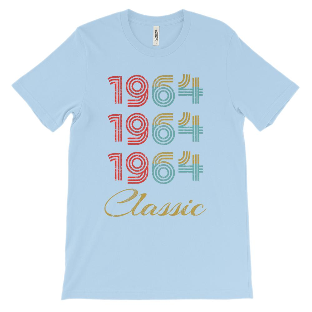(Unisex BC 3001 Soft Tee) 3 Year Classic 1964 (richer colors) Graphic T-Shirt Tee BOXELS