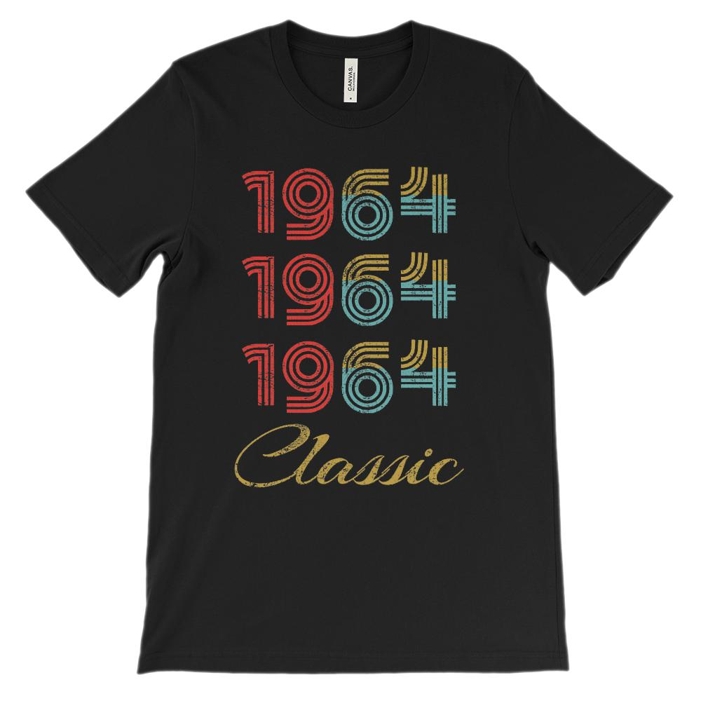 (Unisex BC 3001 Soft Tee) 3 Year Classic 1964 (richer colors)