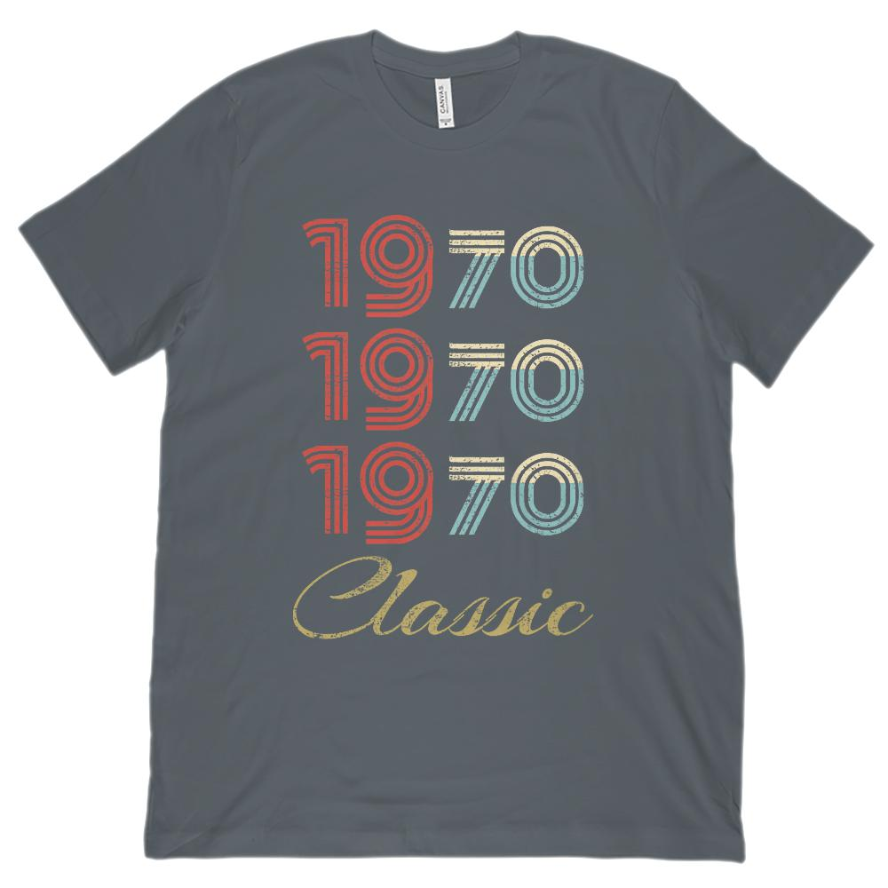 (Unisex BC 3001 Soft Tee) 3 Year Classic 1970 - Made in the Year Graphic T-Shirt Tee BOXELS