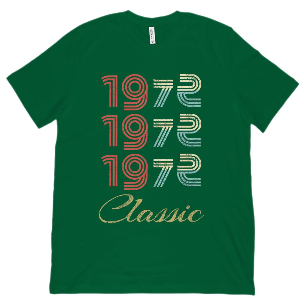 (Unisex BC 3001 Soft Tee) 3 Year Classic 1972 - Made in the Year Graphic T-Shirt Tee BOXELS