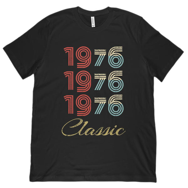 (Unisex BC 3001 Soft Tee) 3 Year Classic 1976 - Made in the Year Graphic T-Shirt Tee BOXELS