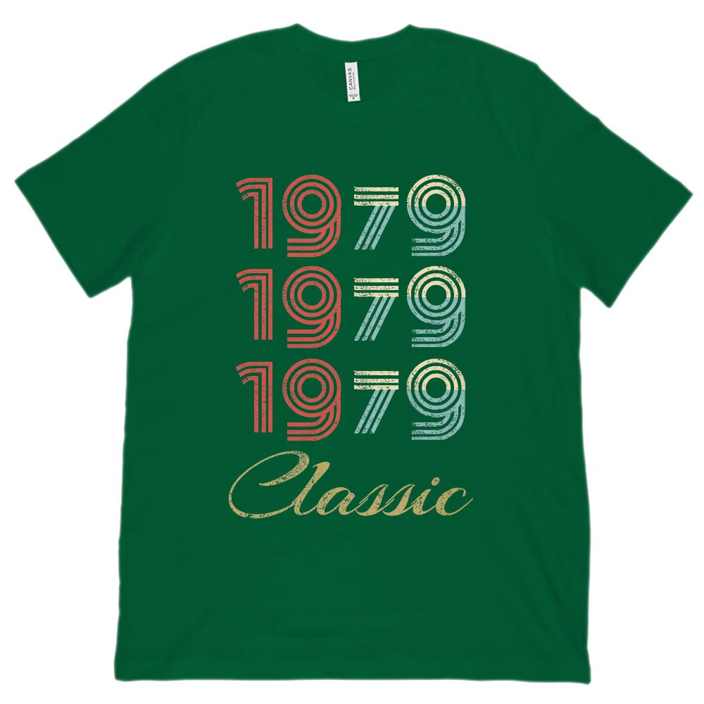 (Unisex BC 3001 Soft Tee) 3 Year Classic 1979 - Made in the Year Graphic T-Shirt Tee BOXELS