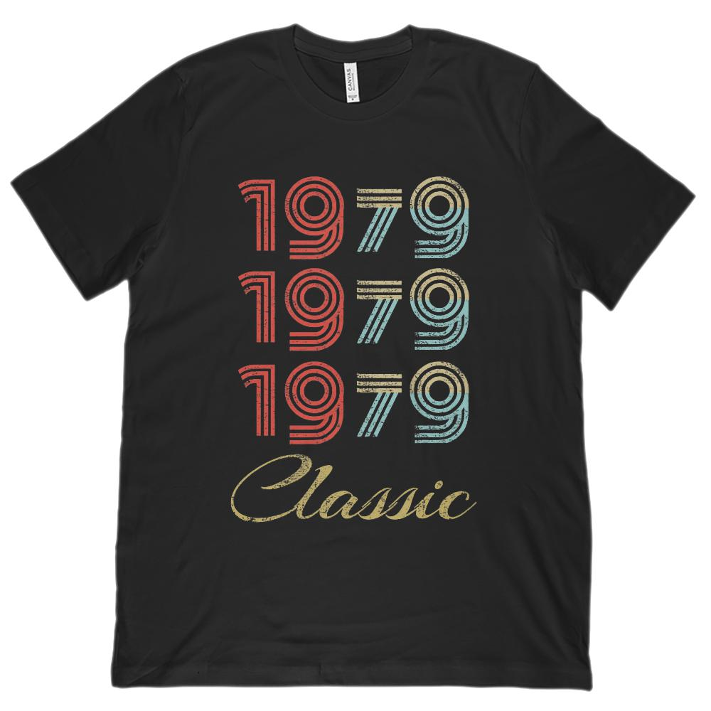 (Unisex BC 3001 Soft Tee) 3 Year Classic 1979 - Made in the Year (darker font)