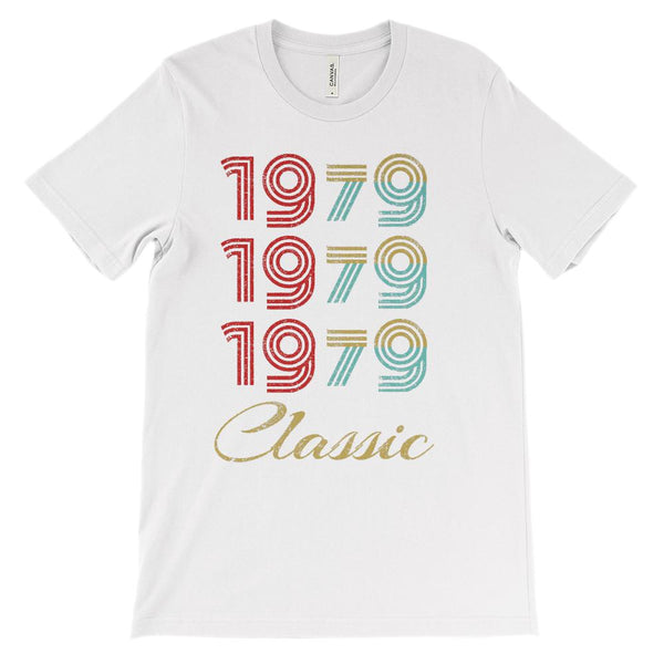 (Unisex BC 3001 Soft Tee) 3 Year Classic 1979 (richer colors) Graphic T-Shirt Tee BOXELS
