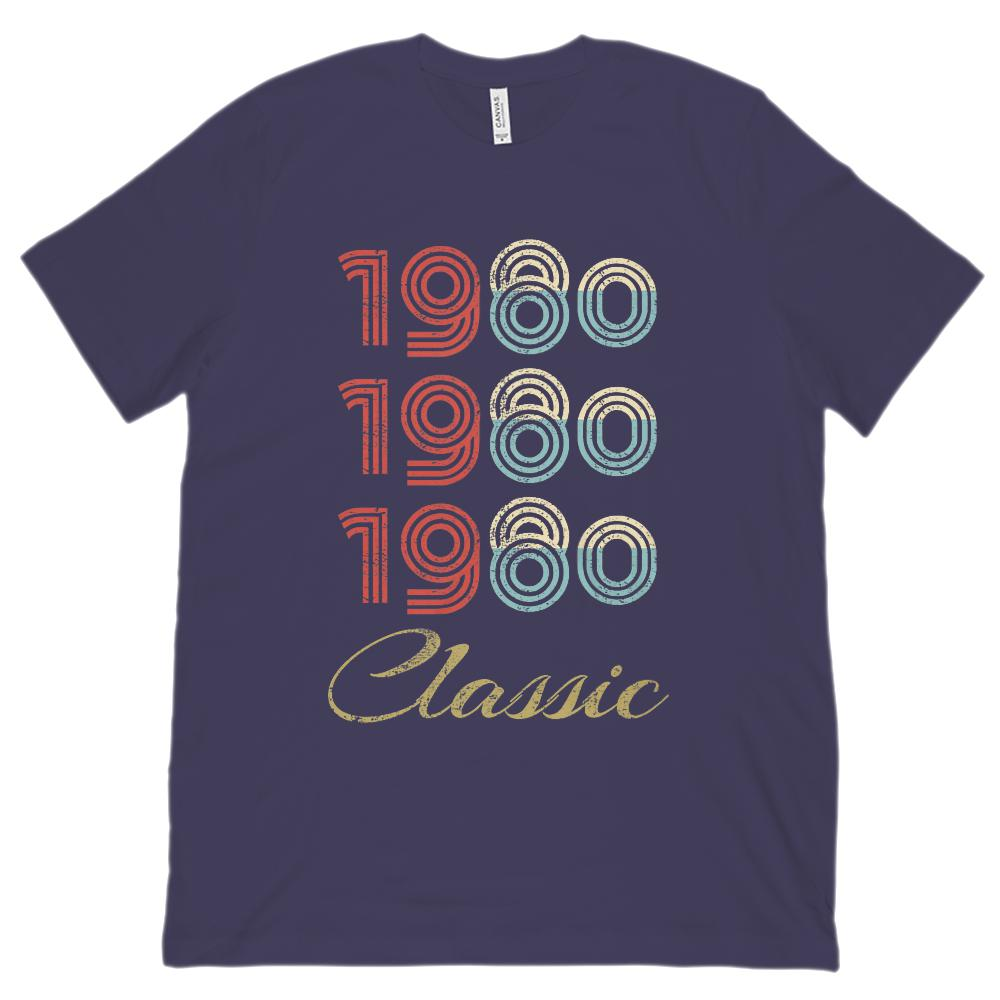 (Unisex BC 3001 Soft Tee) 3 Year Classic 1980 - Made in the Year Graphic T-Shirt Tee BOXELS