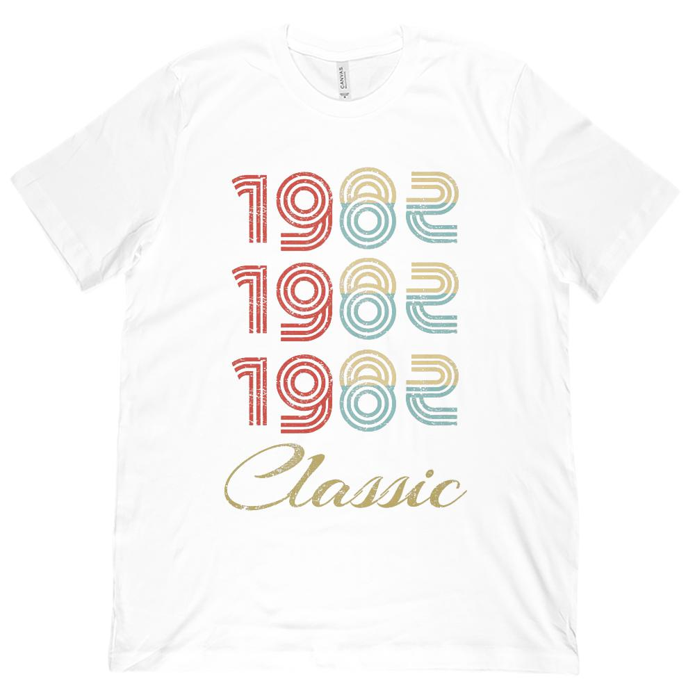 (Unisex BC 3001 Soft Tee) 3 Year Classic 1982 (darker cream) Made in the Year Graphic T-Shirt Tee BOXELS