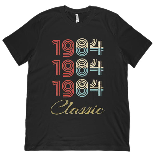 (Unisex BC 3001 Soft Tee) 3 Year Classic 1984 - Made in the Year Graphic T-Shirt Tee BOXELS