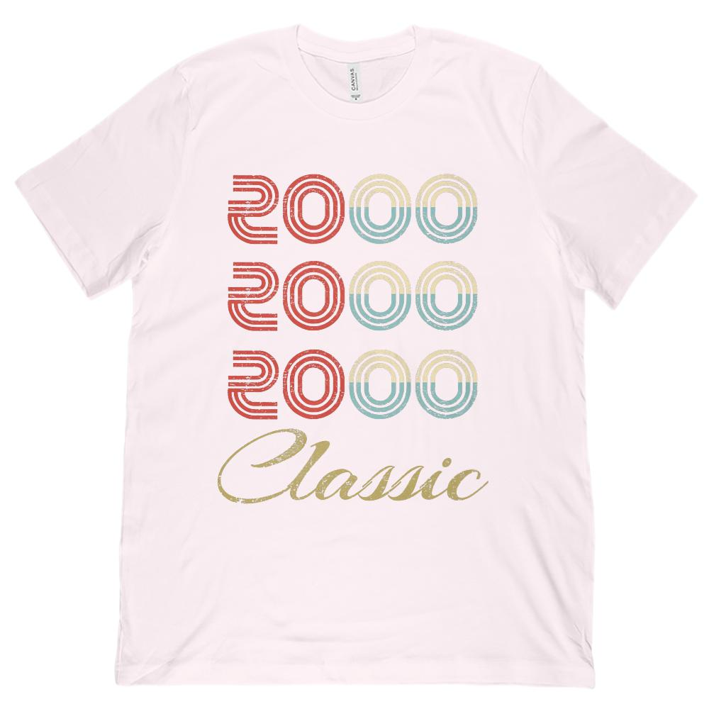 (Unisex BC 3001 Soft Tee) 3 Year Classic 2000 - Made in the Year Graphic T-Shirt Tee BOXELS