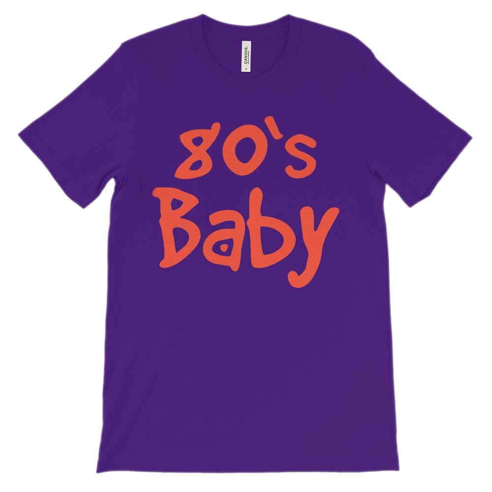(Unisex BC 3001 Soft Tee) 80's Baby Retro Made in Year Graphic T-Shirt Tee BOXELS