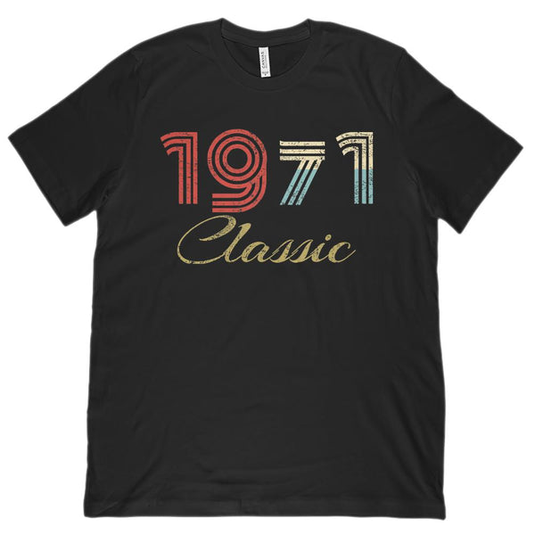(Unisex BC 3001 Soft Tee) Classic 1971 - Made in the Year Graphic T-Shirt Tee BOXELS