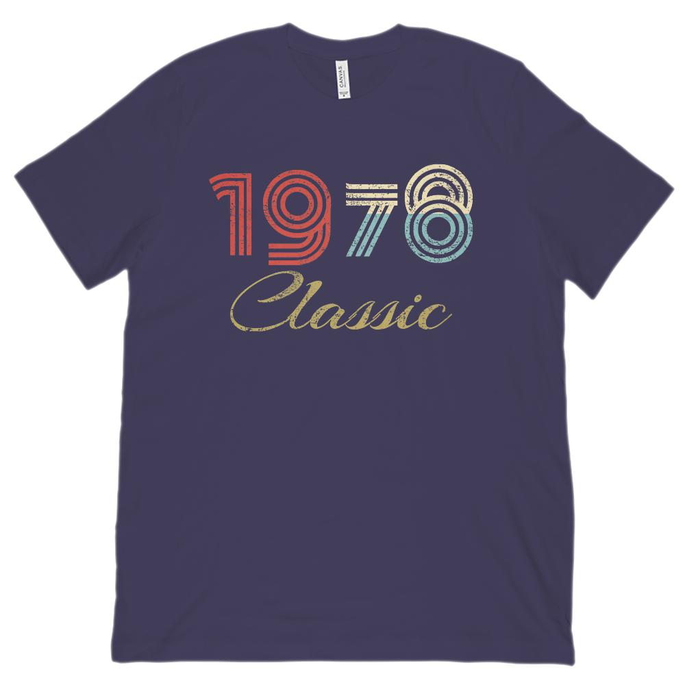 (Unisex BC 3001 Soft Tee) Classic 1978 - Made in the Year Graphic T-Shirt Tee BOXELS