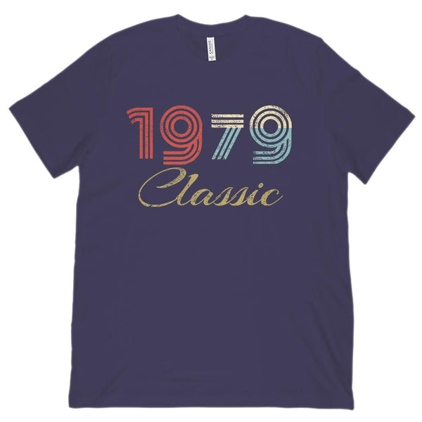 (Unisex BC 3001 Soft Tee) Classic 1979 - Made in the Year Graphic T-Shirt Tee BOXELS