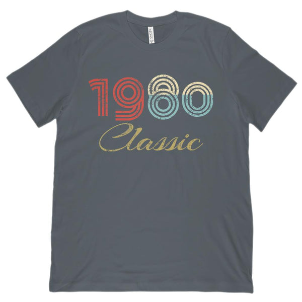 (Unisex BC 3001 Soft Tee) Classic 1980 - Made in the Year Graphic T-Shirt Tee BOXELS