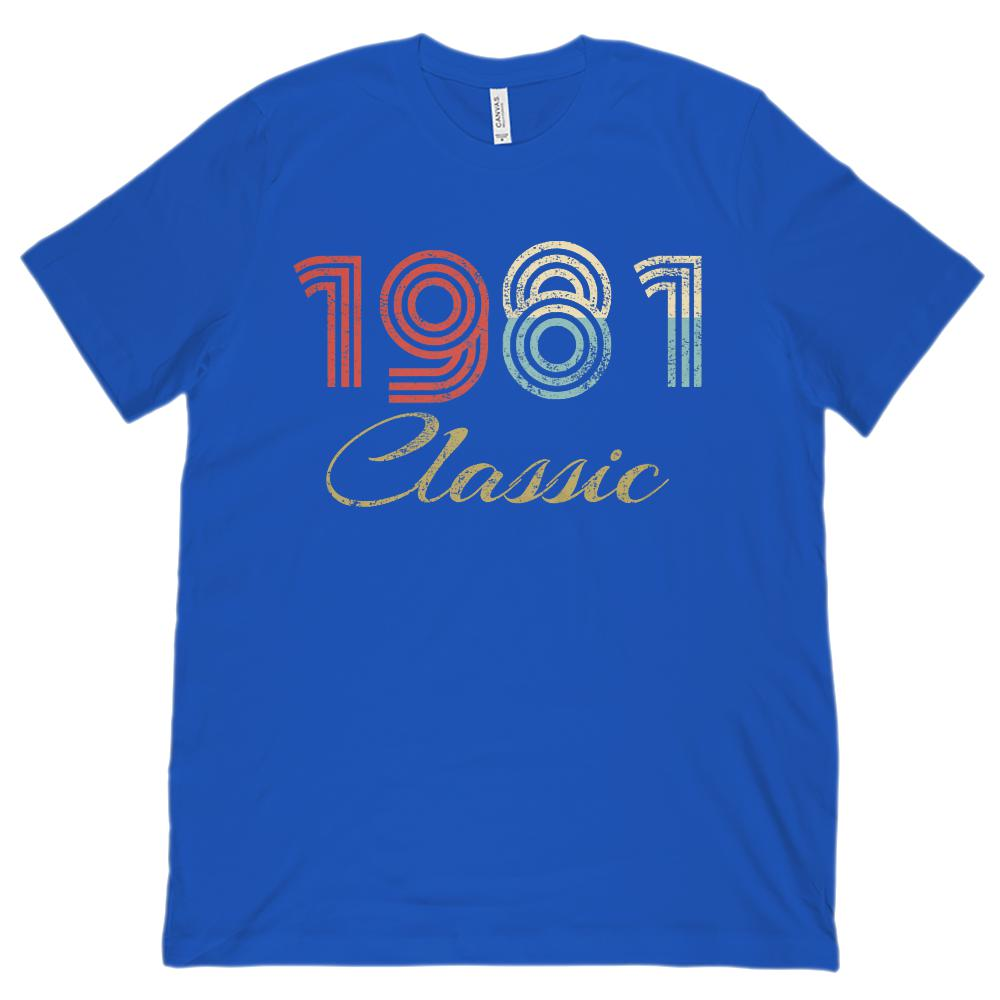 (Unisex BC 3001 Soft Tee) Classic 1981 - Made in the Year Graphic T-Shirt Tee BOXELS