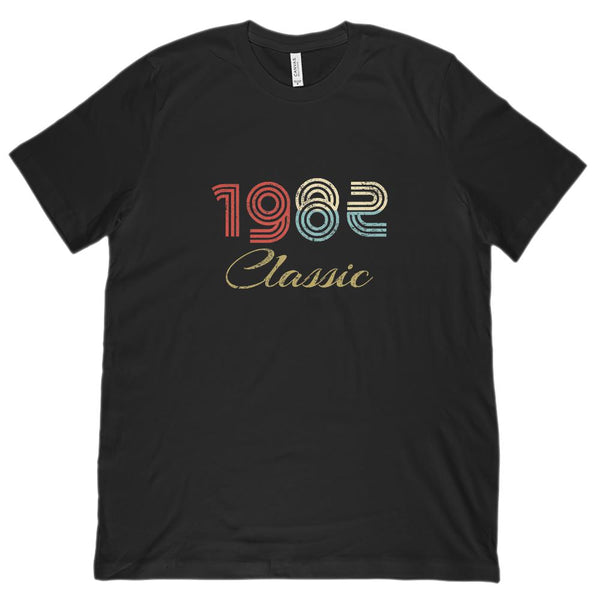 (Unisex BC 3001 Soft Tee) Classic 1982 - Made in the Year Graphic T-Shirt Tee BOXELS