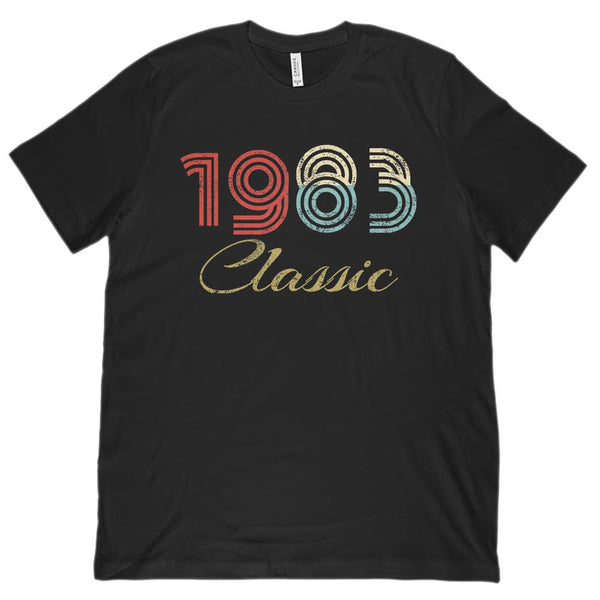 (Unisex BC 3001 Soft Tee) Classic 1983 - Made in the Year Graphic T-Shirt Tee BOXELS
