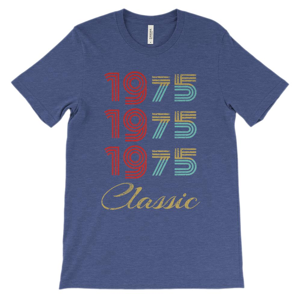 (Unisex BC 3001 Soft Tee) Classic 3 Year 1975 (richer on White) Graphic T-Shirt Tee BOXELS