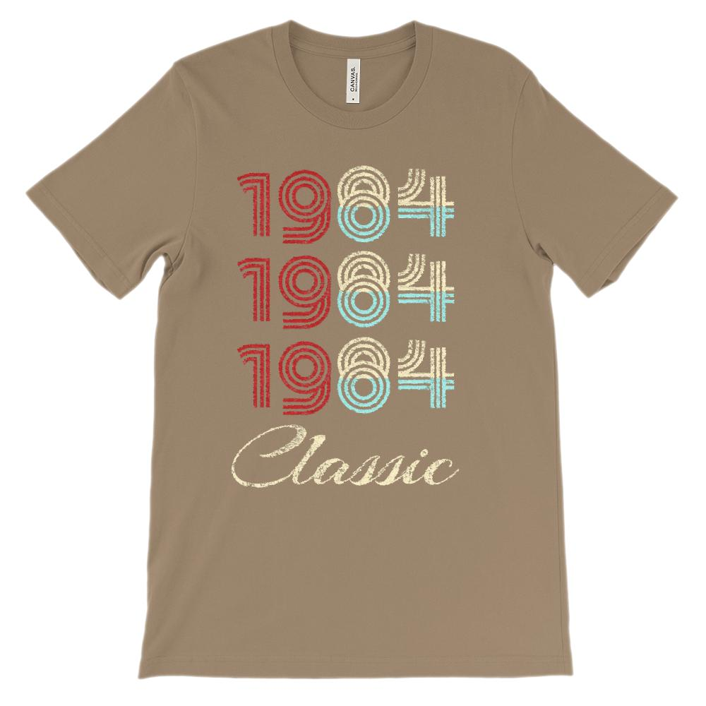 (Unisex BC 3001 Soft Tee) Classic 3 Year 1984 (Bright) Graphic T-Shirt Tee BOXELS