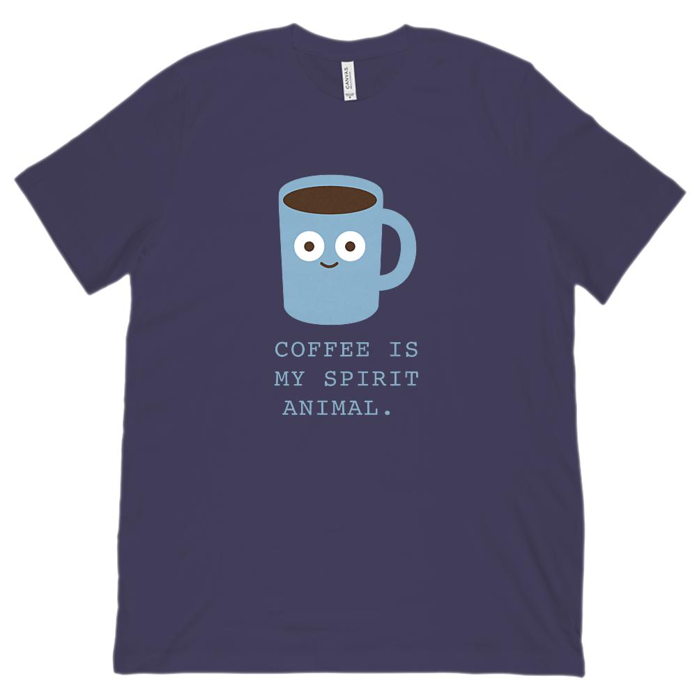 (Unisex BC 3001 Soft Tee) Coffee is My Spirit Aninal. Graphic T-Shirt Tee BOXELS