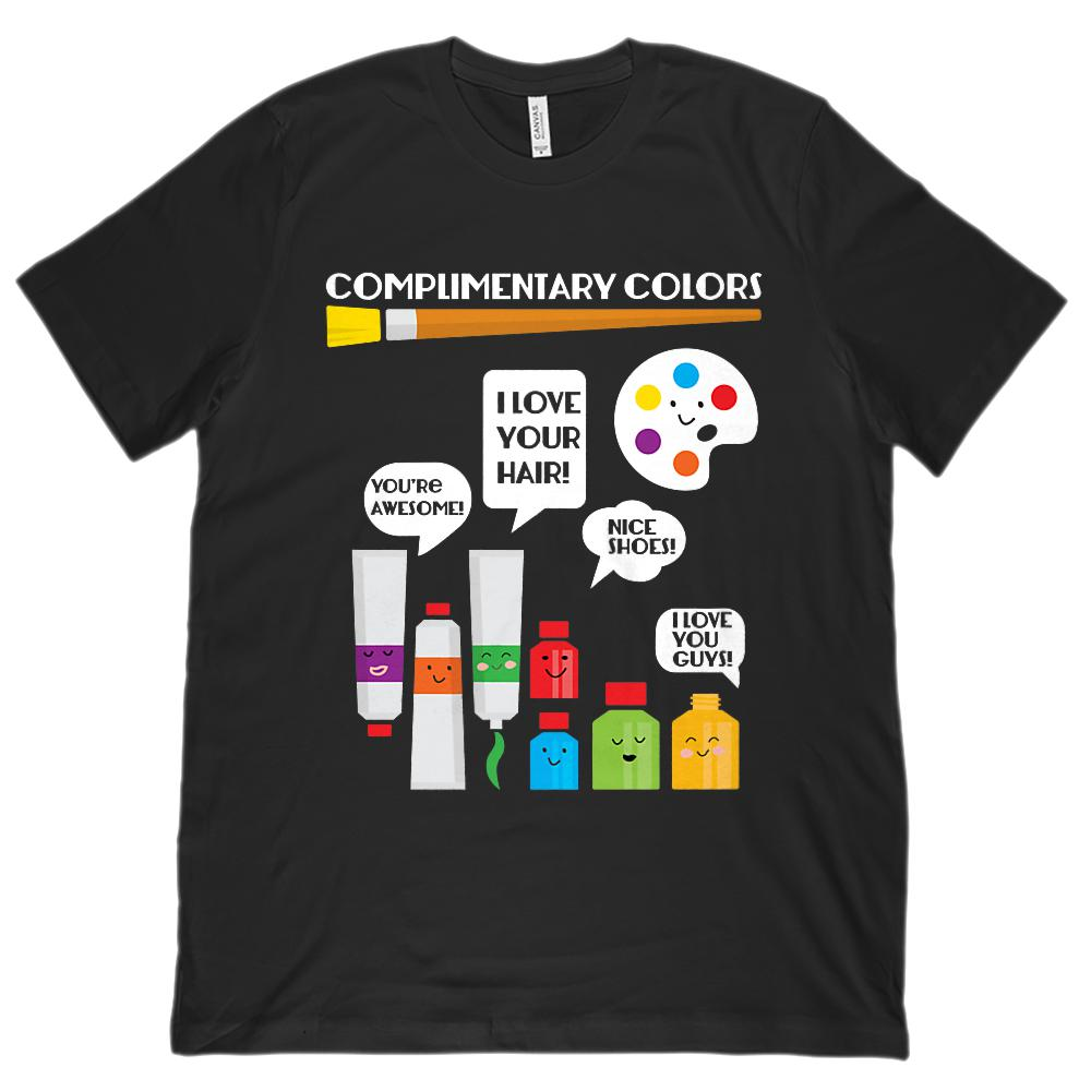 (Unisex BC 3001 Soft Tee) Complimentary Colors Art Teacher Graphic T-Shirt Tee BOXELS