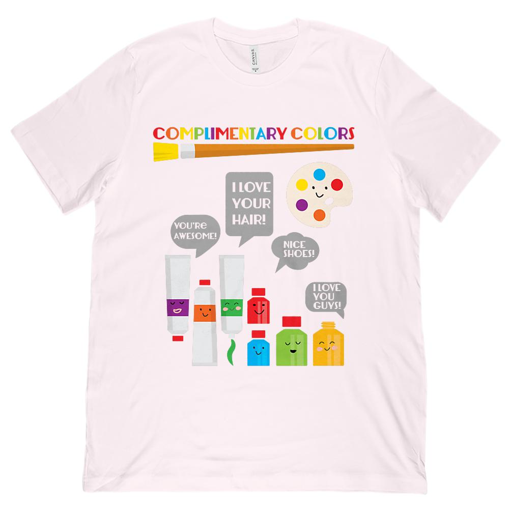 (Unisex BC 3001 Soft Tee) Complimentary Colors Art Teacher Rainbow