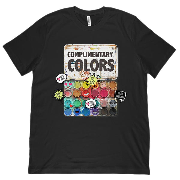 (Unisex BC 3001 Soft Tee) Complimentary Colors Paint Set (teachers, artists) Graphic T-Shirt Tee BOXELS