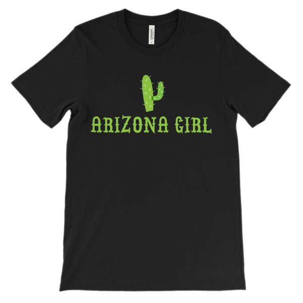 (Unisex BC 3001 Soft Tee - darks) Arizona Girl Cacti Graphic T-Shirt Tee BOXELS