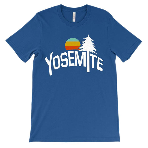 (Unisex BC 3001 Soft Tee - Darks) Iconic State Scenery - Yosemite California CA Graphic T-Shirt Tee BOXELS