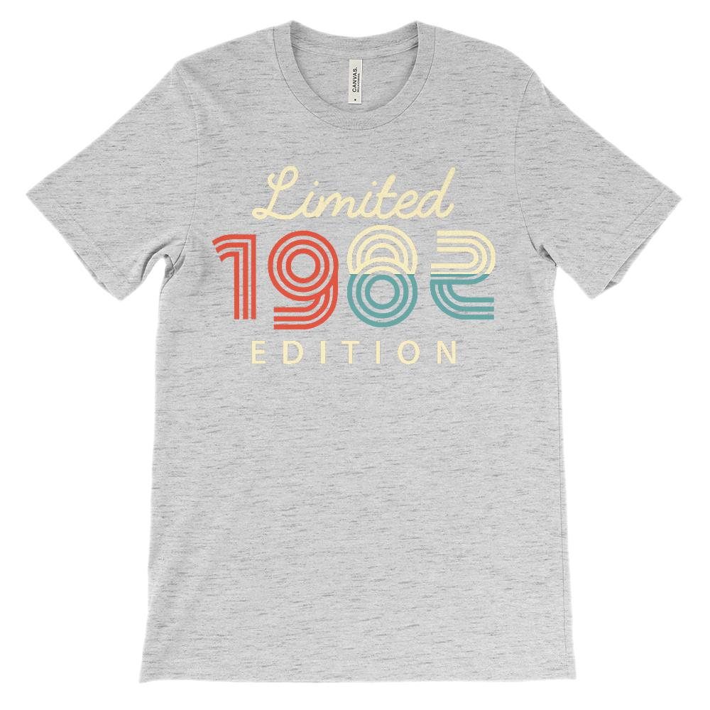 (Unisex BC 3001 Soft Tee - Darks) Limited Edition 1982 - Made in the Year Graphic T-Shirt Tee BOXELS