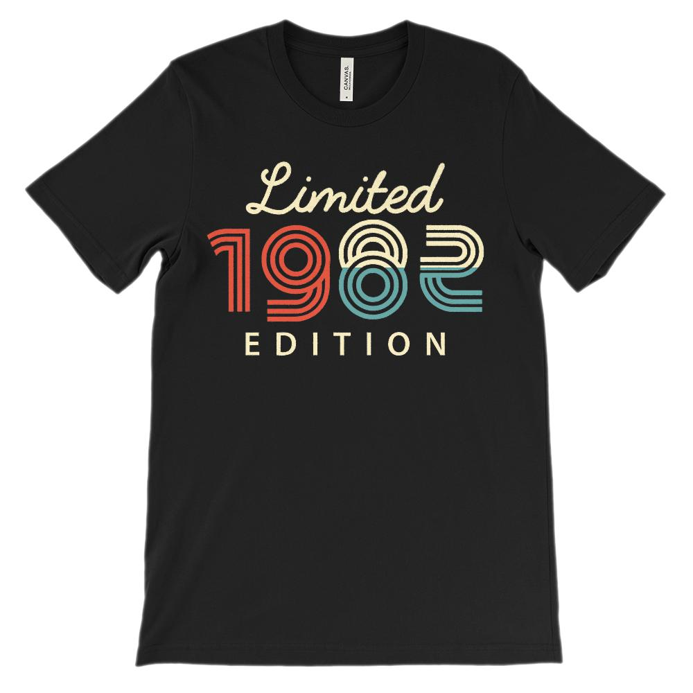 (Unisex BC 3001 Soft Tee - Darks) Limited Edition 1982 - Made in the Year