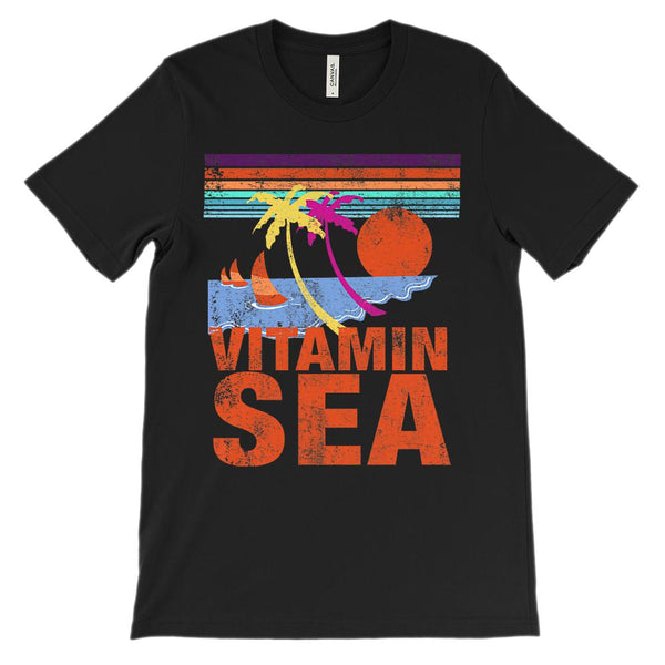 (Unisex BC 3001 Soft Tee - Darks) Vitamin Sea Orange Graphic T-Shirt Tee BOXELS