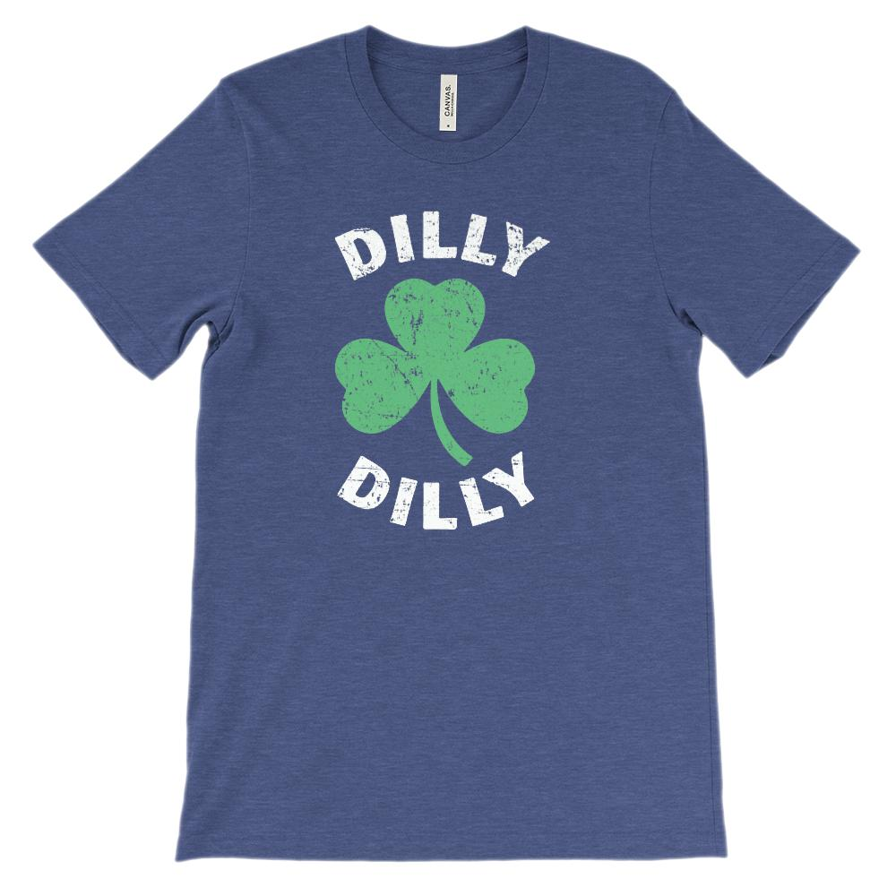 (Unisex BC 3001 Soft Tee) Dilly Dilly Clover St Patricks Graphic T-Shirt Tee BOXELS