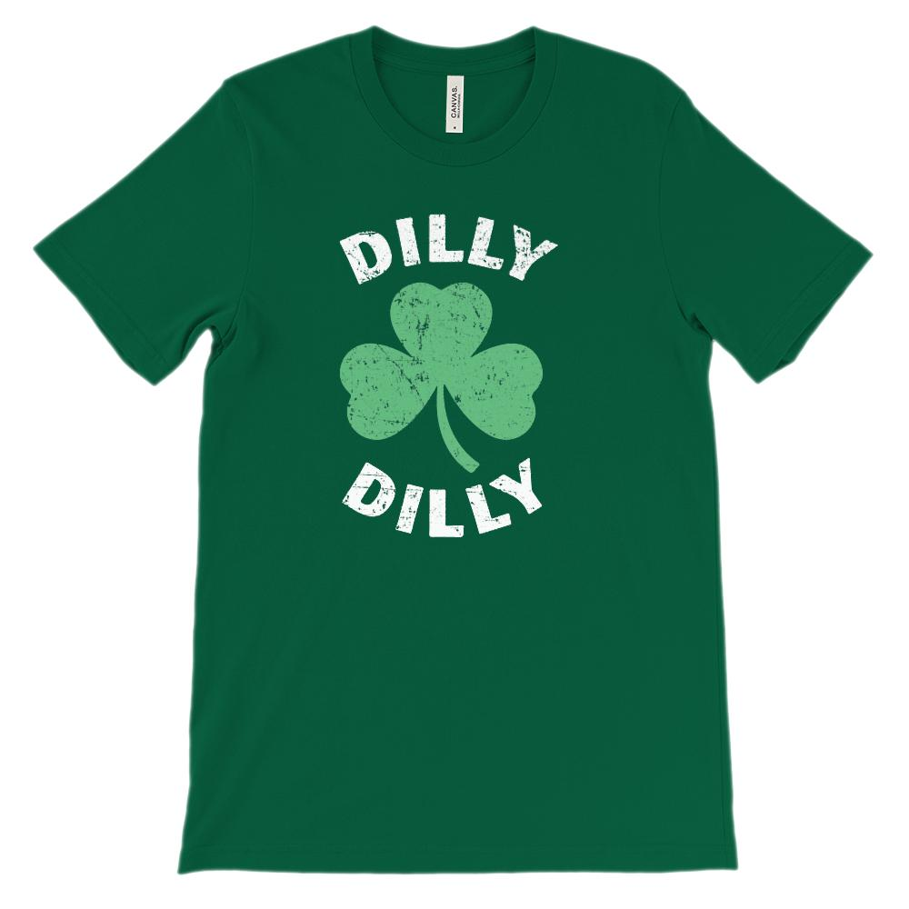(Unisex BC 3001 Soft Tee) Dilly Dilly Clover St Patricks