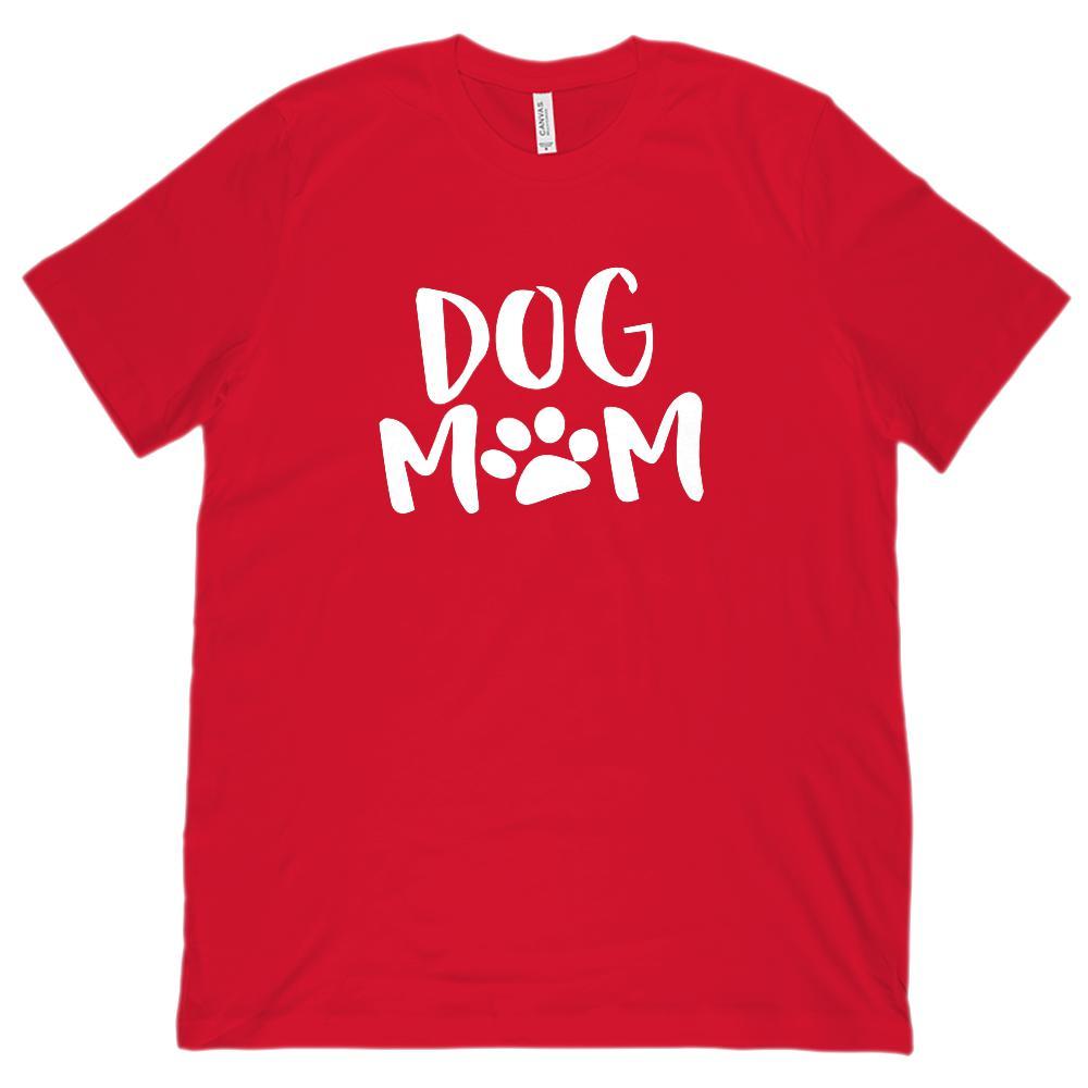 "(Unisex BC 3001 Soft Tee) Dog Mom Paw Print ""O"" Pet Love Tee (Regular Colors) Graphic T-Shirt Tee BOXELS"