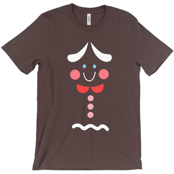 (Unisex BC 3001 Soft Tee) Gingerbread Woman (girl) Holiday T-shirt Graphic T-Shirt Tee BOXELS