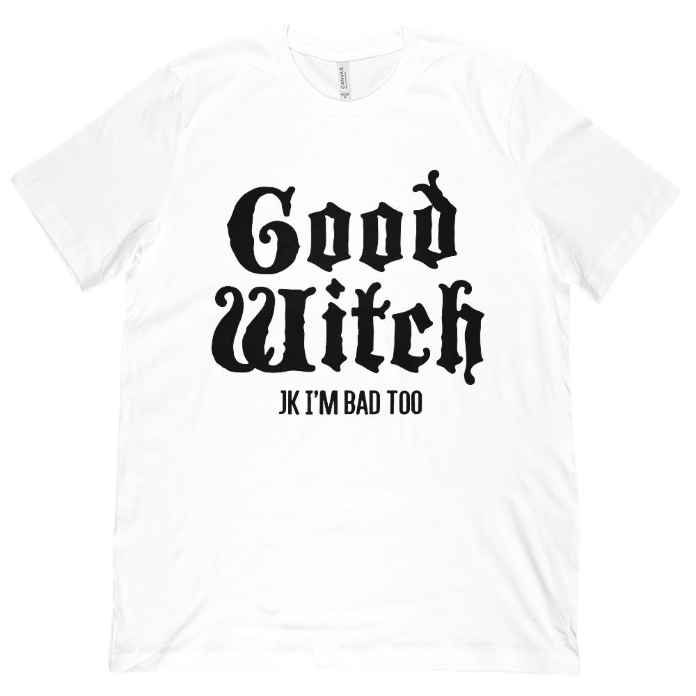 (Unisex BC 3001 Soft Tee) Good Witch, Bad Witch (matching set) | Good Witch
