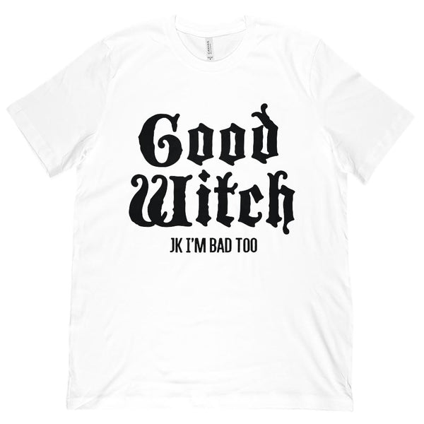 (Unisex BC 3001 Soft Tee) Good Witch, Bad Witch (matching set) | Good Witch Graphic T-Shirt Tee BOXELS