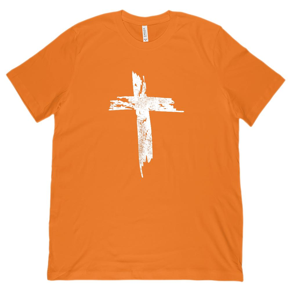 (Unisex BC 3001 Soft Tee) Grunge Jesus Christian Cross Graphic T-Shirt Tee BOXELS