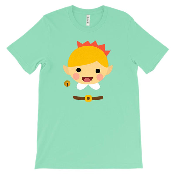 (Unisex BC 3001 Soft Tee) Holiday Happy Elf Transparent Body Graphic T-Shirt Tee BOXELS