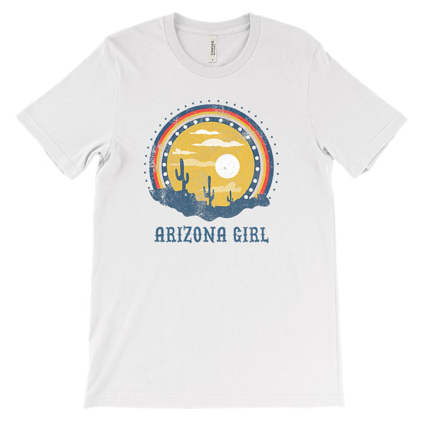 (Unisex BC 3001 Soft Tee) Iconic State Scenery - Arizona Girl AZ Graphic T-Shirt Tee BOXELS