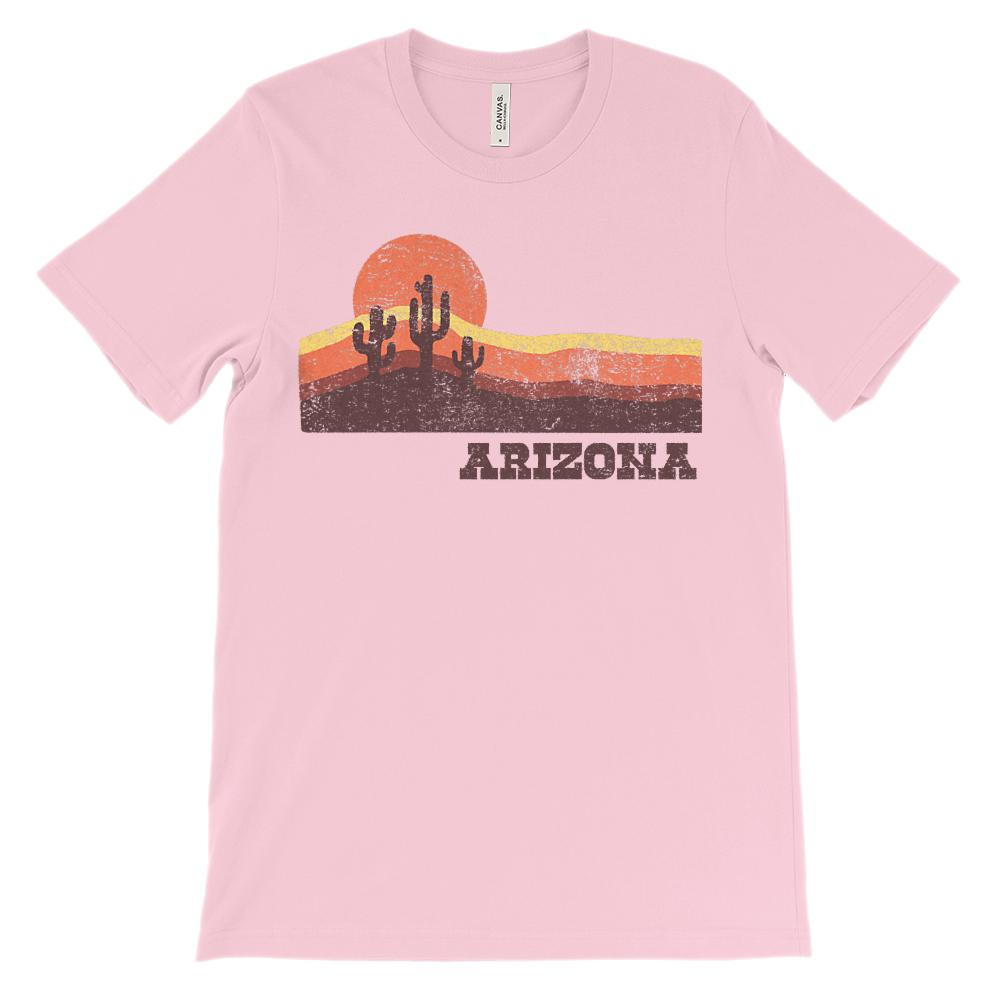 (Unisex BC 3001 Soft Tee) Iconic State Scenery - Arizona Sunset Desert AZ Graphic T-Shirt Tee BOXELS
