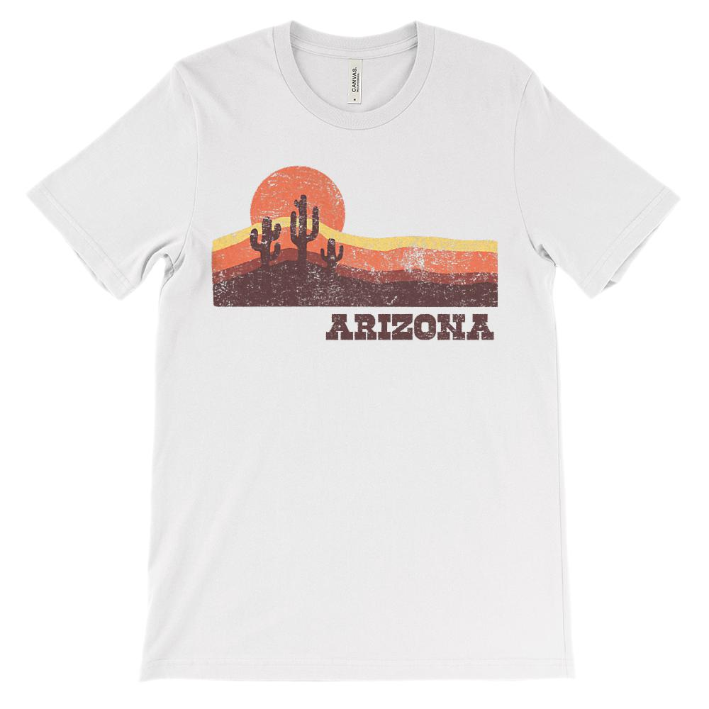 (Unisex BC 3001 Soft Tee) Iconic State Scenery - Arizona Sunset Desert AZ