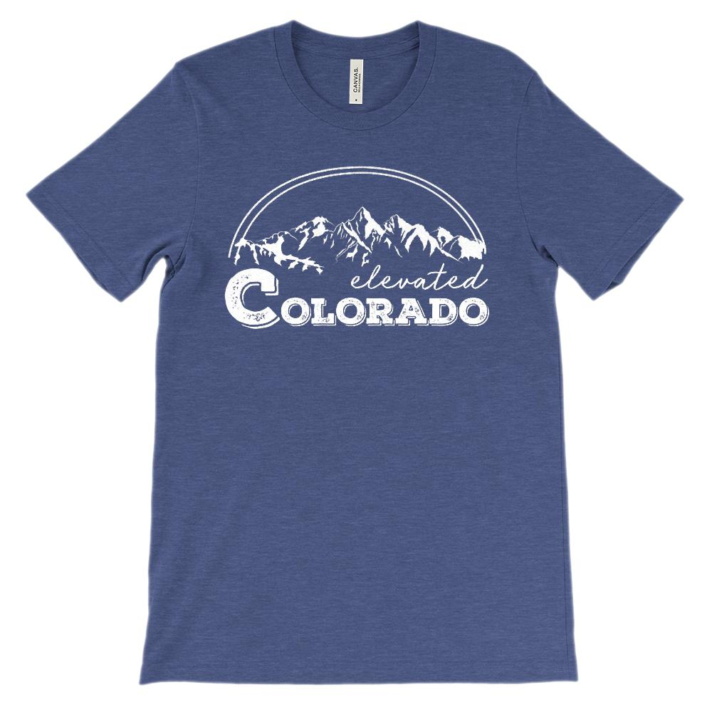 (Unisex BC 3001 Soft Tee) Iconic State Scenery - Colorado CO Elevated Mountains